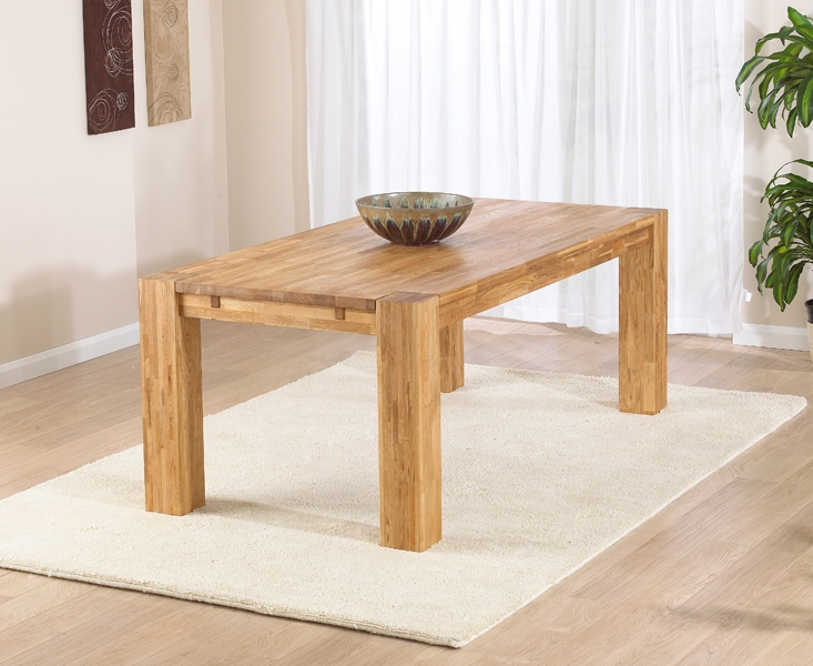 Mark Harris Madrid Solid Oak Dining Table - 200cm Rectangular Extending