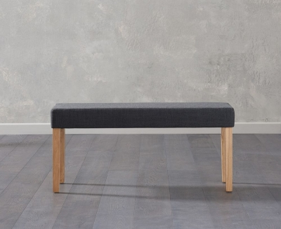 Mark Harris Maiya Black Fabric Small Bench