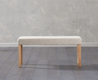 Mark Harris Maiya Cream Fabric Small Bench