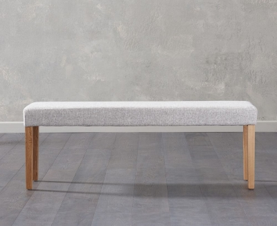 Mark Harris Maiya Grey Fabric Large Bench