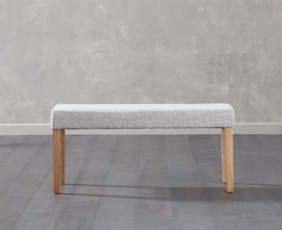 Mark Harris Maiya Grey Fabric Small Bench