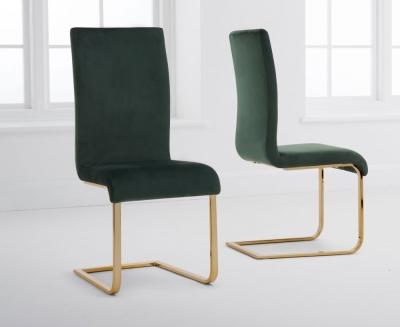 Mark Harris Malibu Green Velvet Dining Chair (Pair)