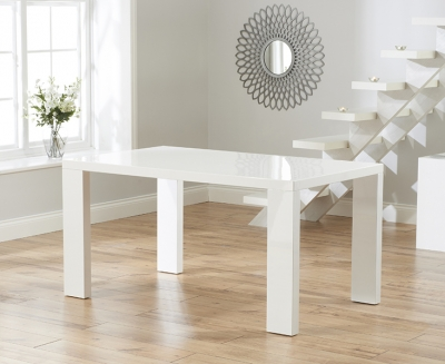 Mark Harris Malpensa White High Gloss Large Dining Table