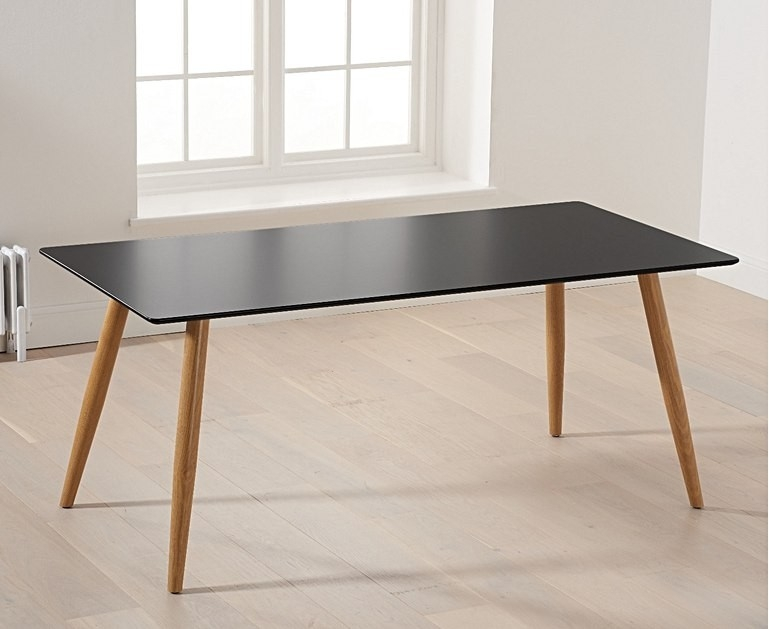 Mark Harris Mansfield Matt Black 180cm Rectangular Dining Table