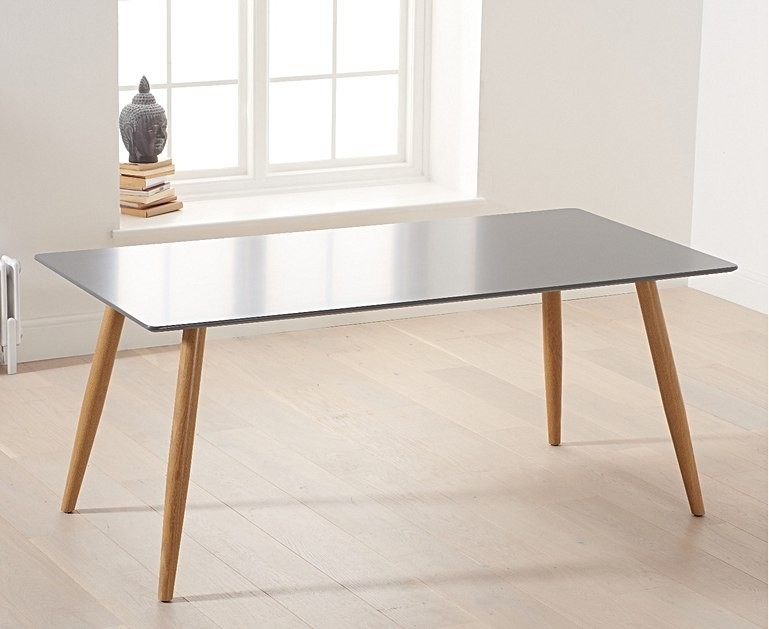 Mark Harris Mansfield Matt Grey Large Dining Table