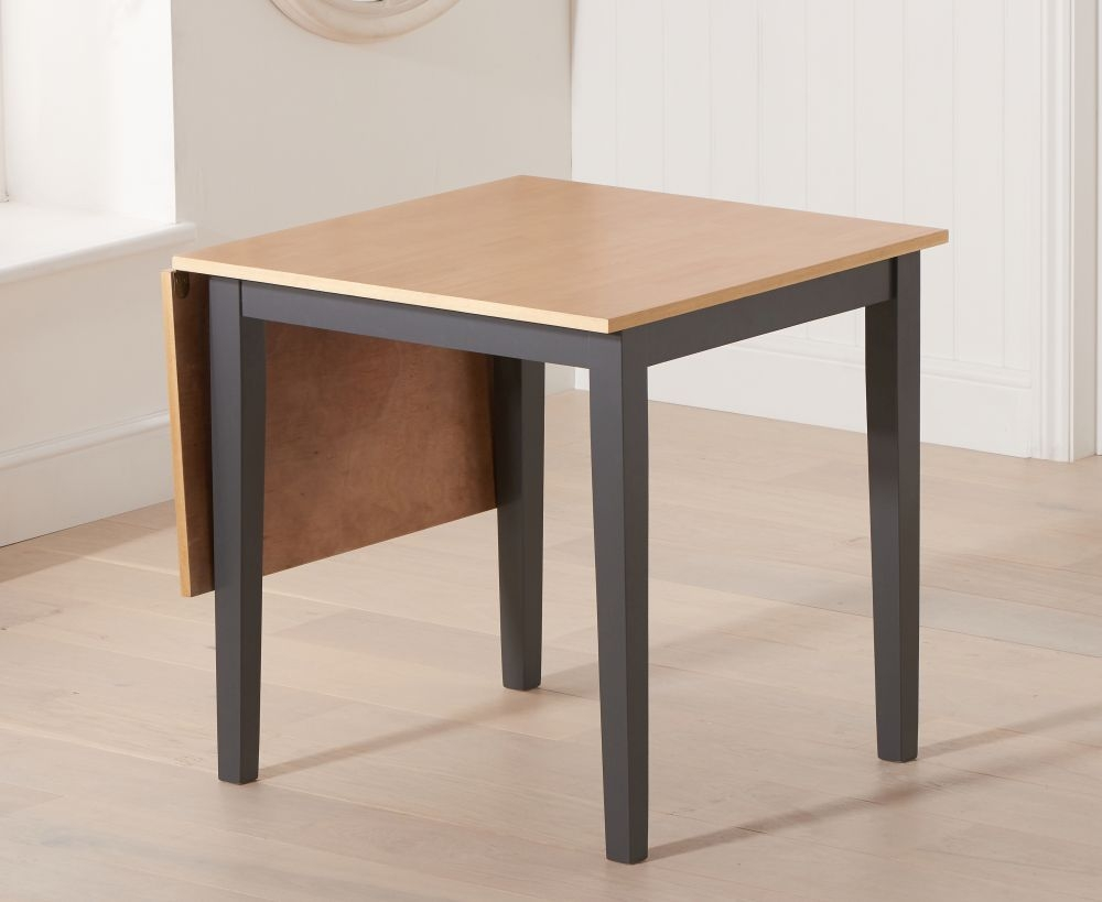 Mark Harris Mara Oak and Dark Grey Rectangular Extending Dining Table