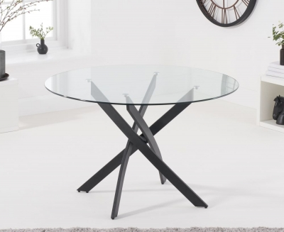 Mark Harris Marina 120cm Round Glass Dining Table