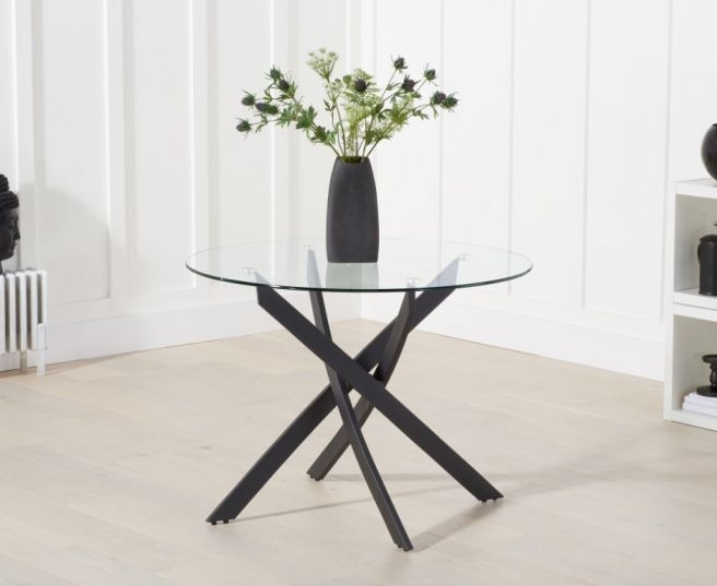 Mark Harris Marina 100cm Round Glass Dining Table