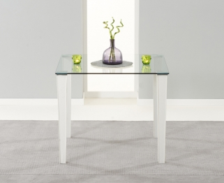 Mark Harris Melrose Clear Glass Top 90cm Dining Table