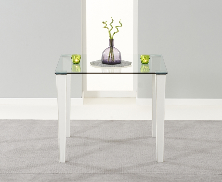 Mark Harris Melrose Clear Glass Dining Table - 90cm Square
