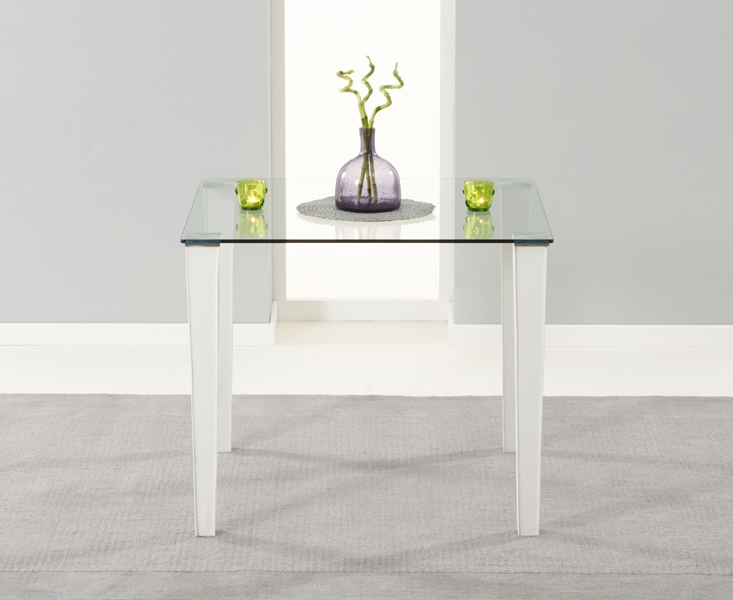 Mark Harris Melrose Clear Glass Top Dining Table - 90cm