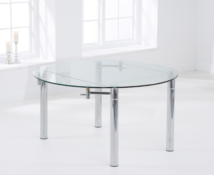 Mark Harris Millennium Glass Dining Table - 145cm Round Extending