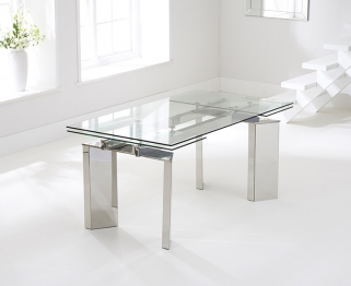 Mark Harris Millicent 160cm Glass Extending Dining Table