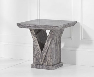 Mark Harris Minsk Grey Marble Lamp Table