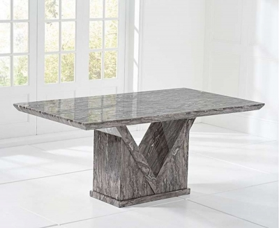 Mark Harris Minsk 180cm Grey Marble Dining Table