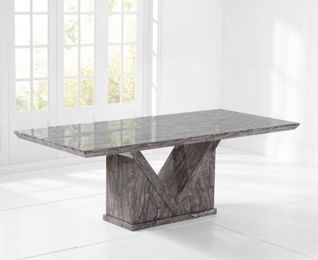 Mark Harris Minsk 220cm Grey Marble Dining Table