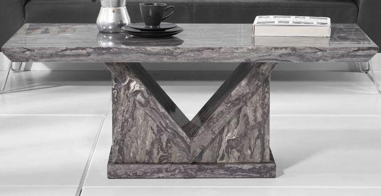 Mark Harris Minsk Grey Marble Coffee Table