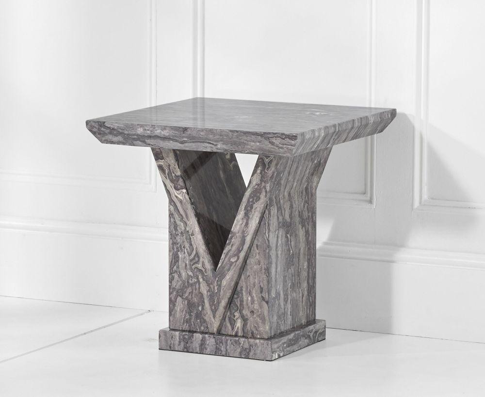 Mark Harris Minsk Grey Marble Lamp Table