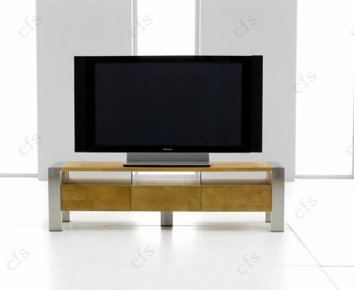 Mark Harris Montana Solid Oak and Metal TV Unit