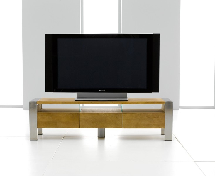 Mark Harris Montana Oak and Metal TV Unit