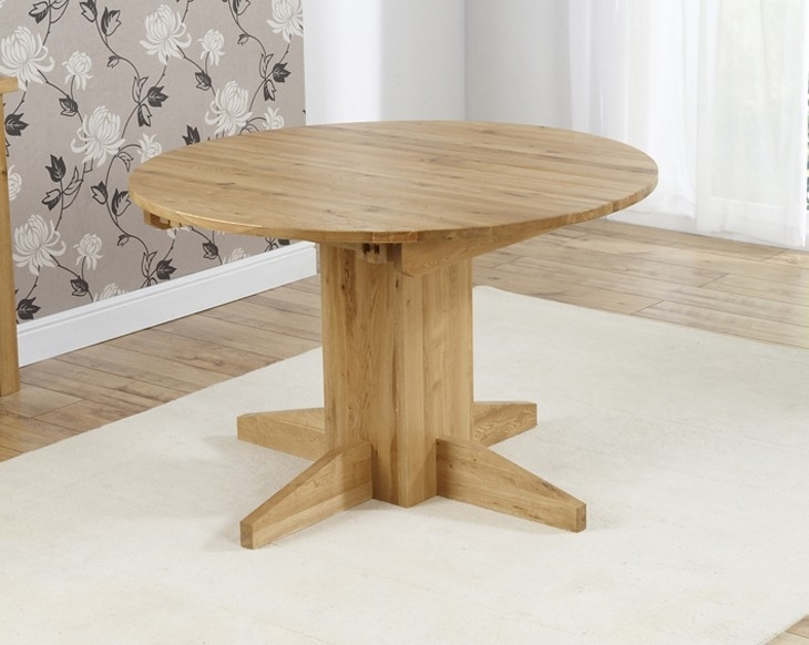 Mark Harris Monte Carlo Solid Oak 120cm Round Extending Dining Table