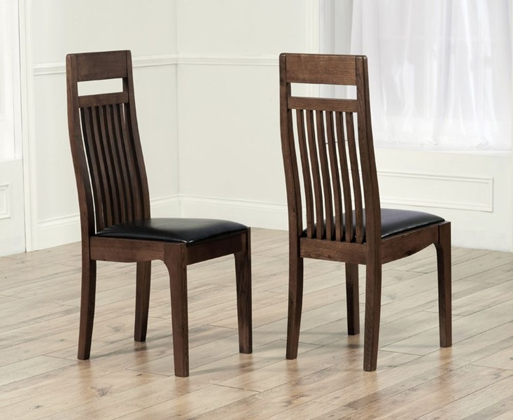 Mark Harris Monte Carlo Dark Oak Dining Chair (Pair)