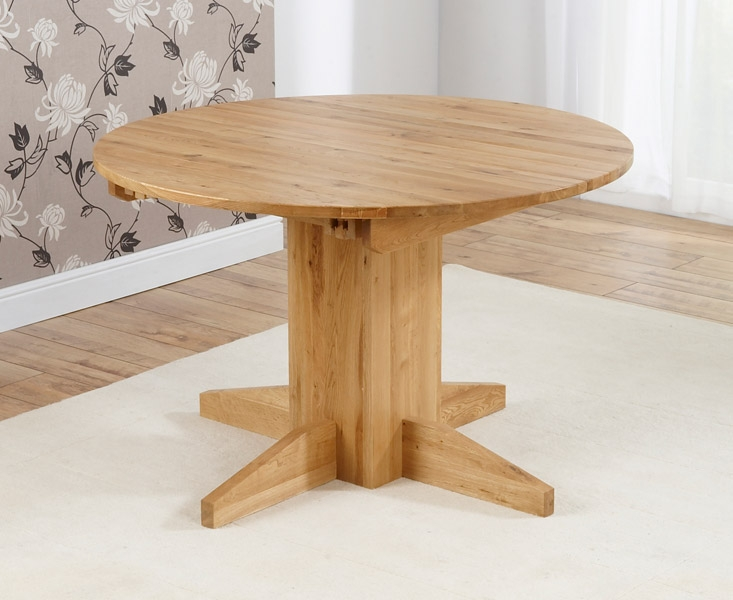 Mark Harris Monte Carlo Solid Oak Dining Table - 120cm Round Extending