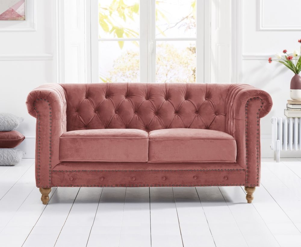 Mark Harris Montrose Blush Plush Fabric 2 Seater Sofa