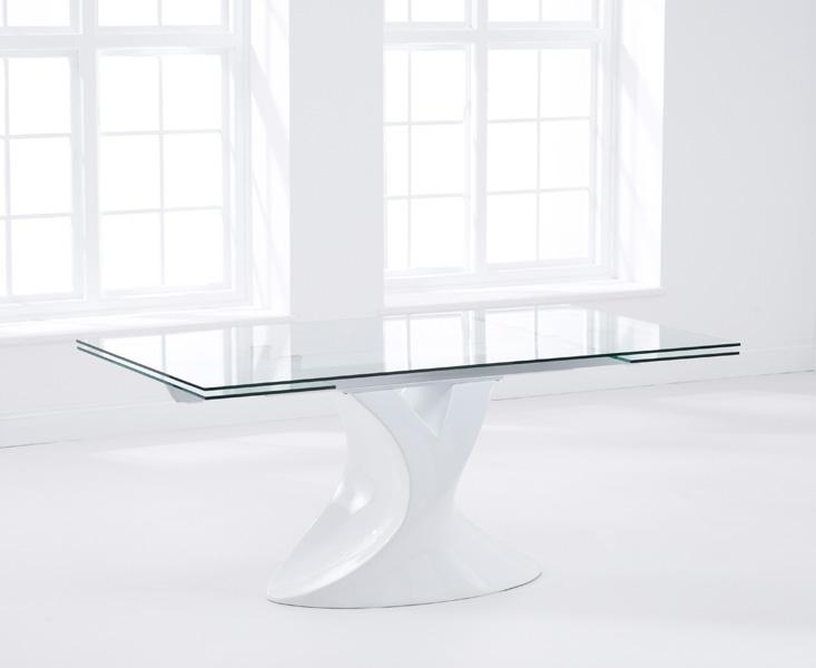Mark Harris Murcia 180cm Extending White Glass Dining Table