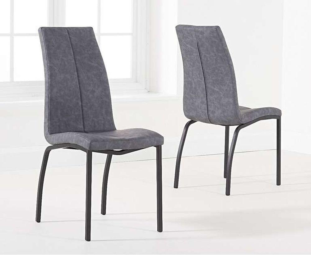 Mark Harris Nadia Antique Grey Fabric Dining Chair (Pair)