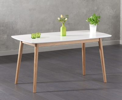 Mark Harris Newark Oak and White Dining Table