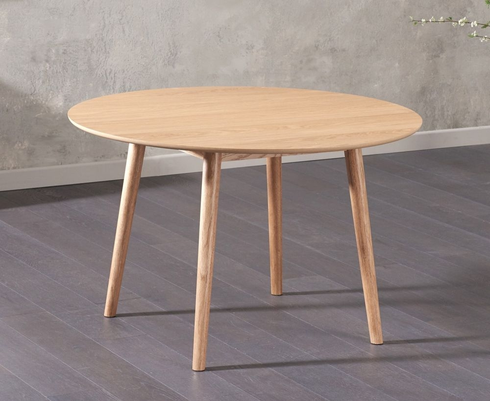 Mark Harris Newark Oak Dining Table - 120cm Round