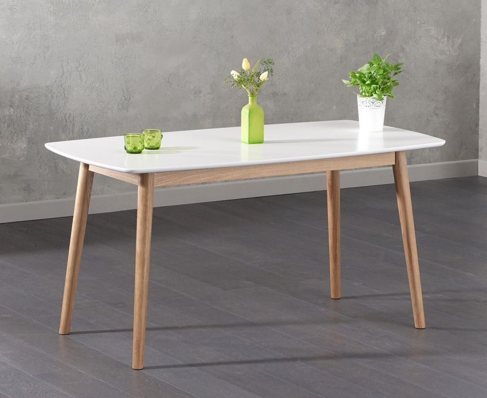 Mark Harris Newark Oak and White Dining Table - 150cm