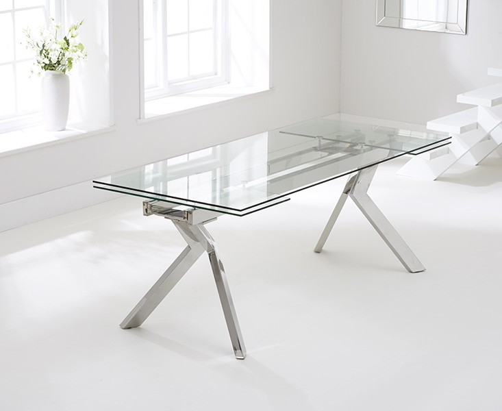Mark Harris Palazzo Glass Dining Table - 200cm Rectangular Extending