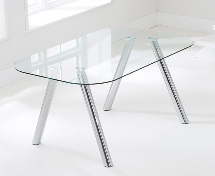 Mark Harris Pantheon Glass Dining Table - 160cm Rectangular