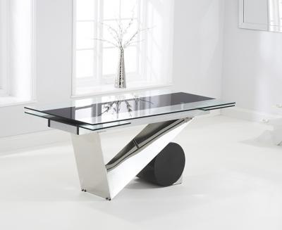 Mark Harris Peru Glass Rectangular Extending Dining Table - 170cm-250cm