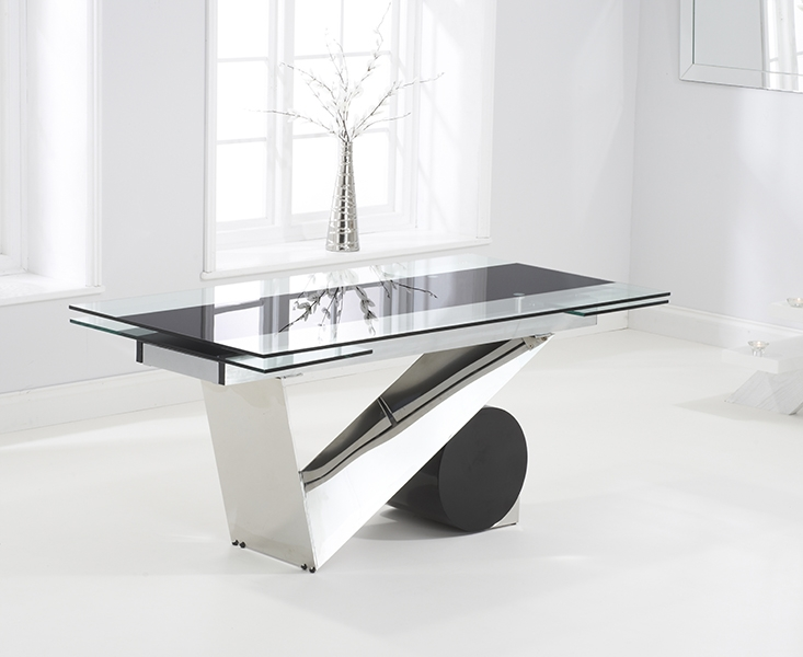 Mark Harris Peru Glass Dining Table - 170cm Rectangular Extending