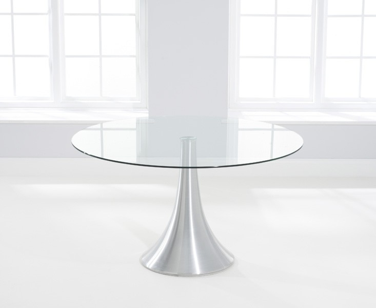 Mark Harris Petra Glass Dining Table - 135cm Round