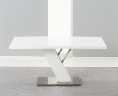 Mark Harris Portland White High Gloss Dining Table