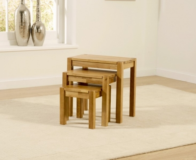 Mark Harris Promo Oak Nest of Tables
