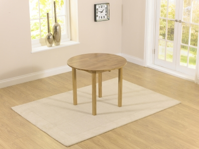 Mark Harris Promo Solid Oak 90cm Round Extending Dining Table
