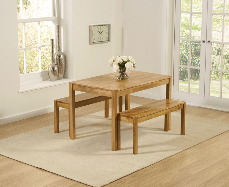 Mark Harris Promo Oak Dining Table and 2 Benches