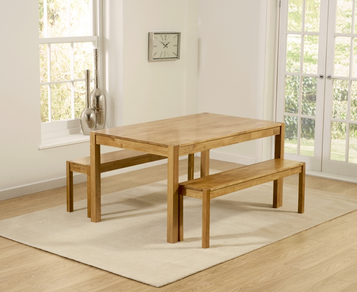 Mark Harris Promo Oak Large Dining Table and 2 Benches