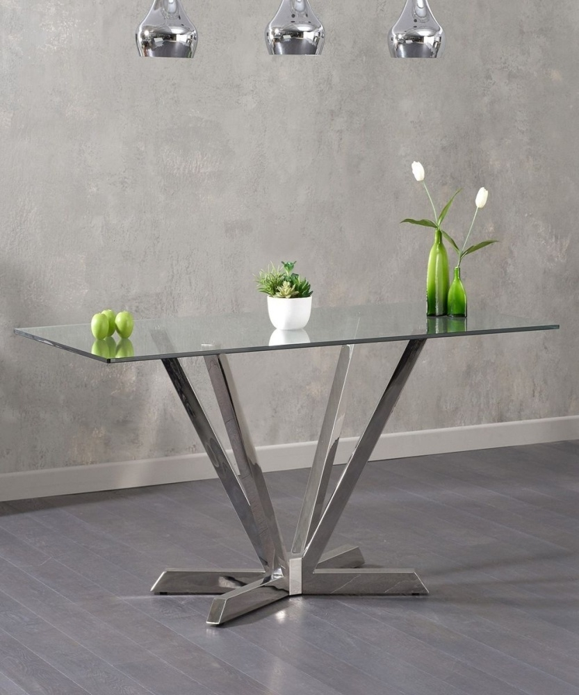 Mark Harris Rene Glass Dining Table - 200cm Rectangular