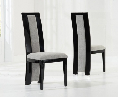 Mark Harris Rivilino Black High Gloss Dining Chair (Pair)