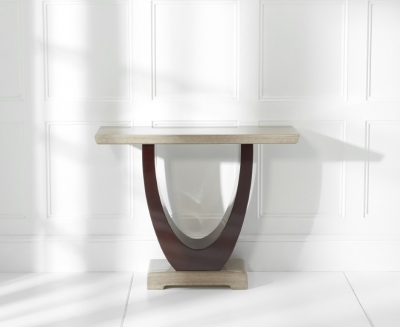 Mark Harris Rivilino Brown Marble Console Table