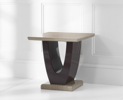 Mark Harris Rivilino Brown Marble Lamp Table