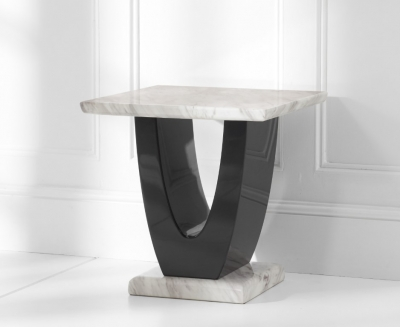 Mark Harris Rivilino Cream Marble Lamp Table