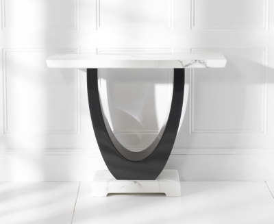 Mark Harris Rivilino White Marble Console Table
