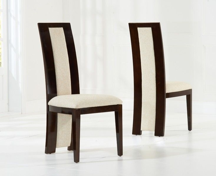 Mark Harris Rivilino Brown High Gloss Dining Chair (Pair)